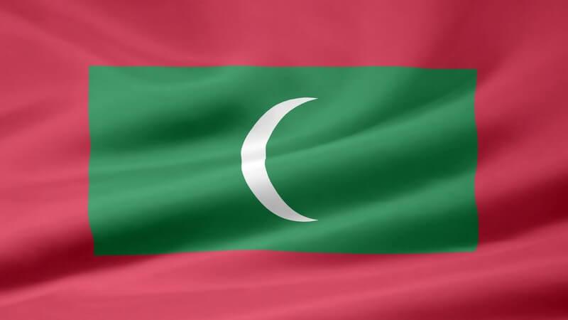 Flagge von den Malediven
