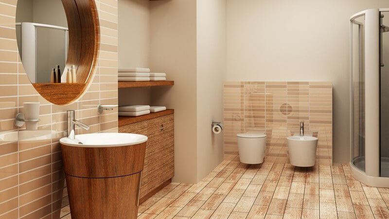 Grafik Einsicht modernes Badezimmer