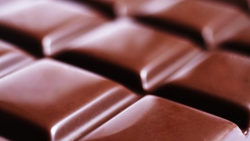 Nahaufnahme Ausschnitt Schokoladentafel