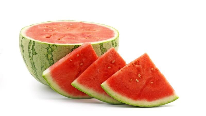 Frische Wassermelone, in Stücke geschnitten