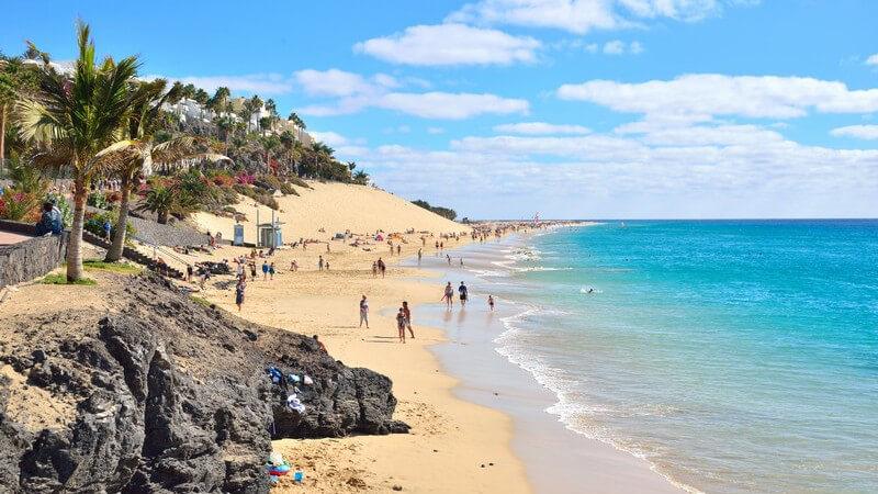 Kanareninsel Fuerteventura, Spanien: Strand von Morro Jable