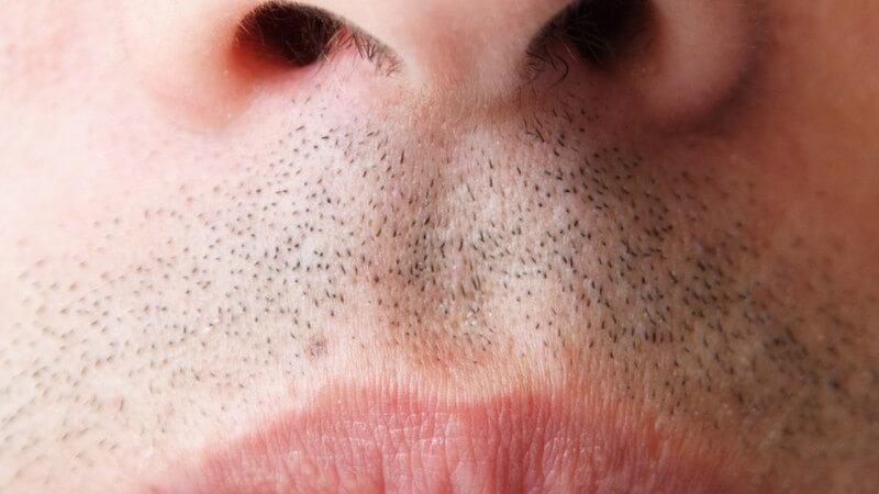 Nase und Mund eines männlichen Gesichts
