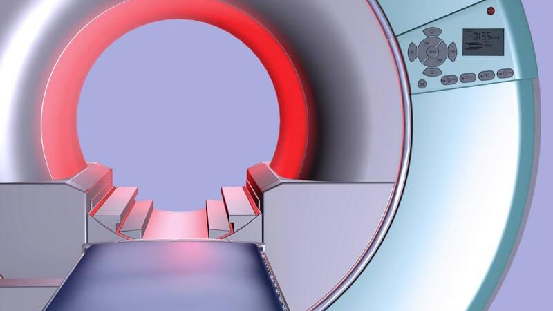 Blick in einen modernen Magnetresonanztomographen