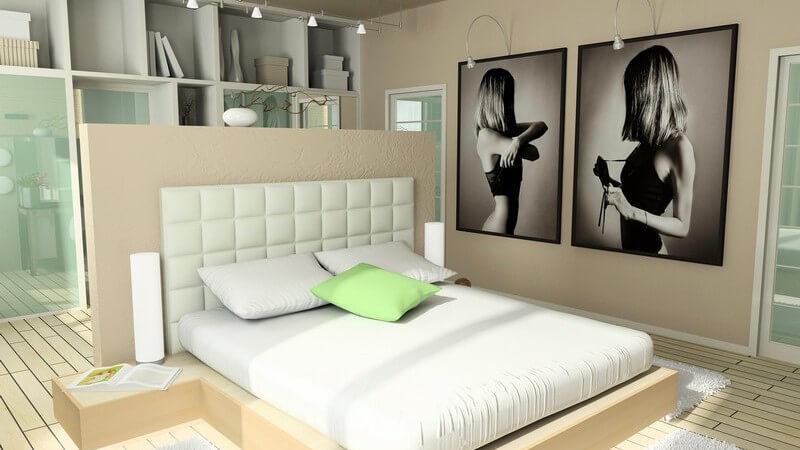 Grafik Einsicht modernes Schlafzimmer