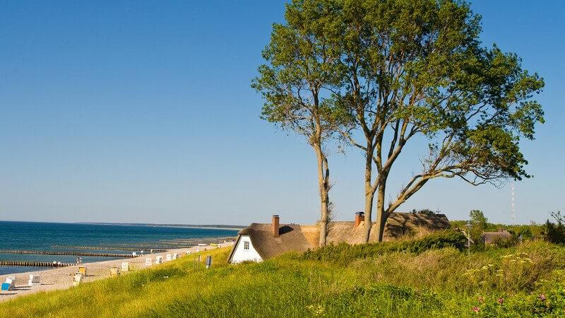 Ortsaufnahme Ahrenshoop, Ferienhaus am Strand und Meer