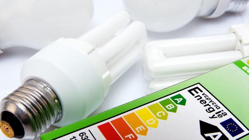 Energiesparlampen mit dem Energiesiegel A davor