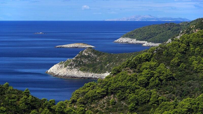 Mljet Küste in Kroatien