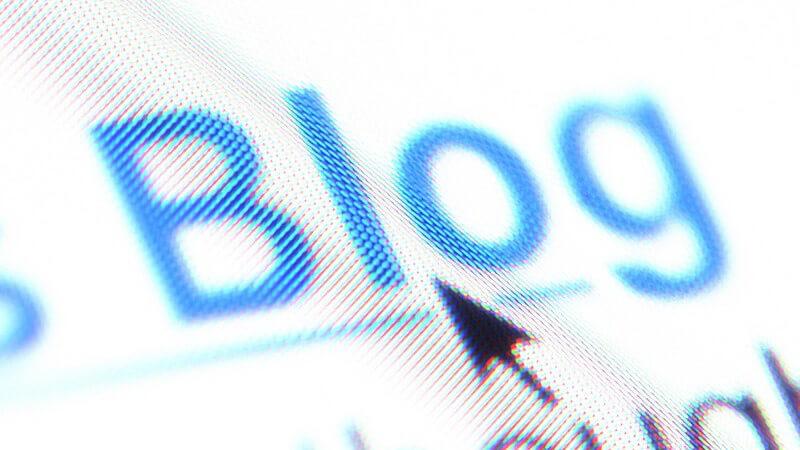 """Wort """"Blog"""" als Hyperlink auf Internetseite"""