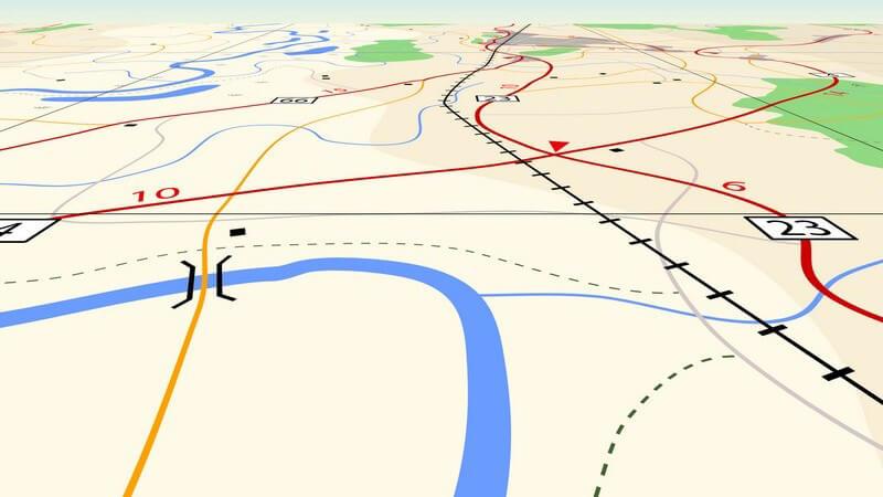 Routenplaner Karte am Computer oder Navigationsgerät