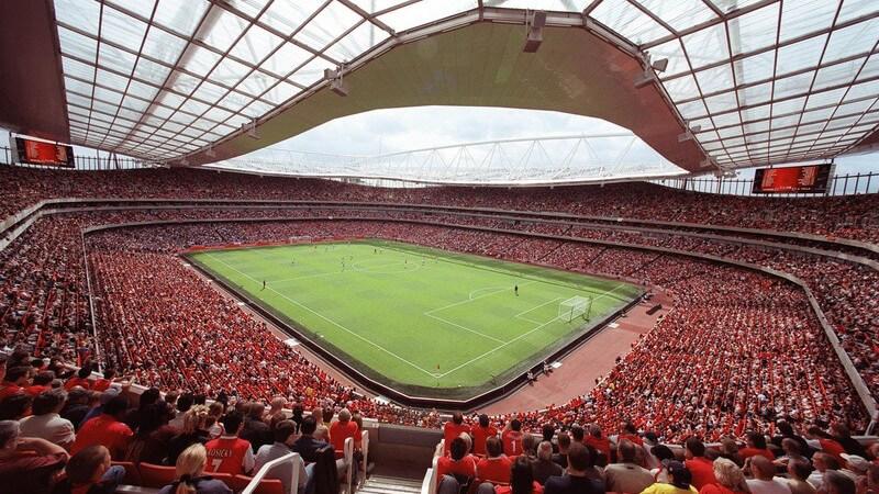 Einsicht in Fußballstadion, London
