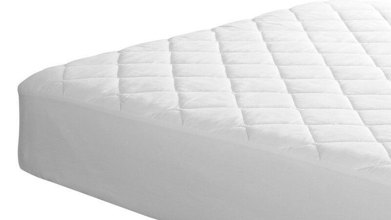 Ausschnitt weiße Matratze