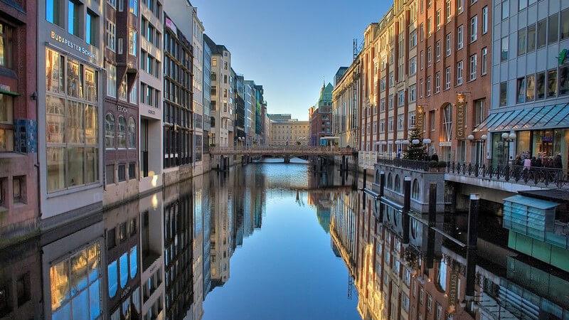 Stadtausschnitt, Fleet Hamburg