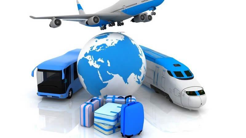 Reisen: Modellflugzeug, -zug, -bus, -koffer, -erdkugel