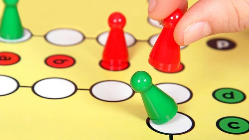 Spielzug bei Mensch ärgere dich nicht, Brettspiel