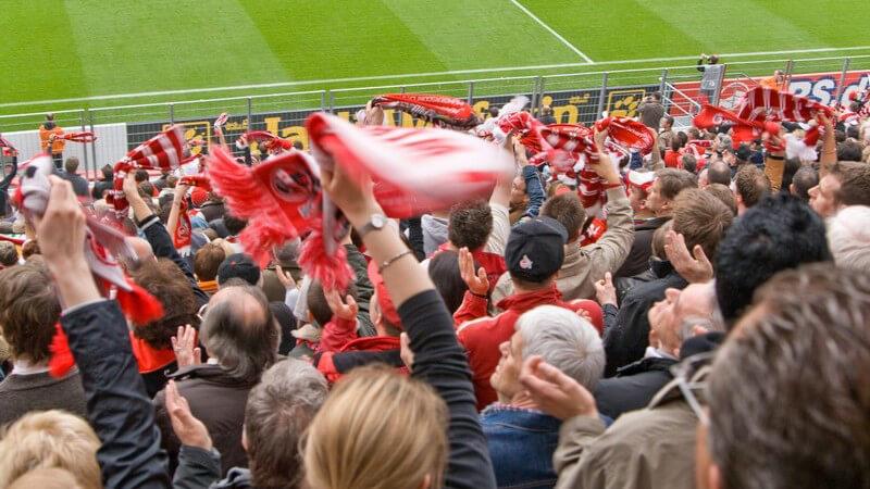 Zuschauer, Fußballfans im Stadion