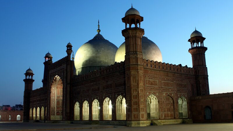 Die Badshahi-Moschee in Pakistan