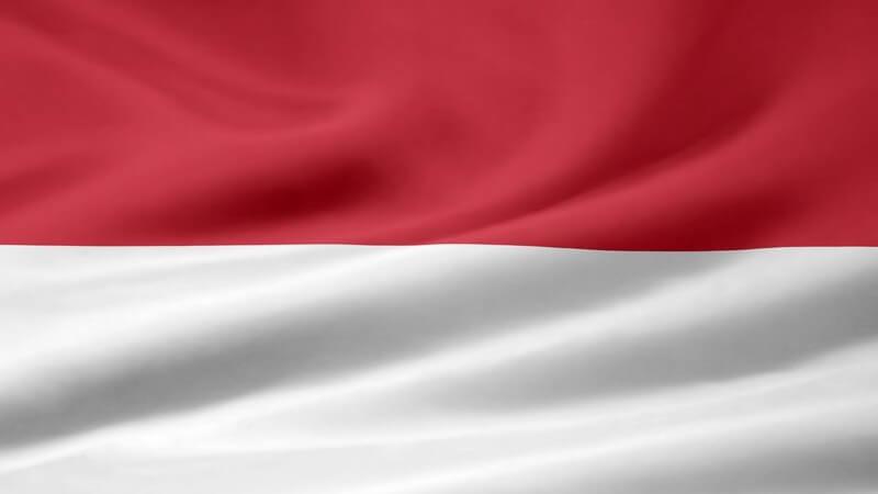 Flagge von Indonesien