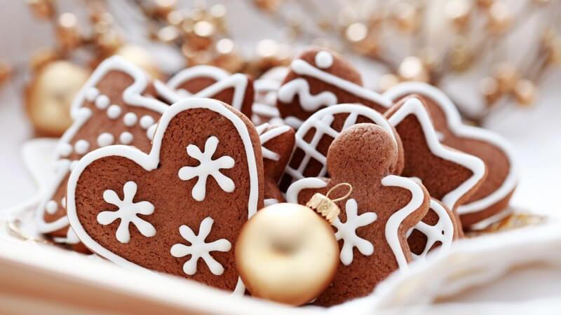 Nahaufnahme Lebkuchen, Weihnachtsgebäck
